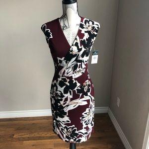 NWT Lauren Ralph Lauren Wrap bodice Floral dress
